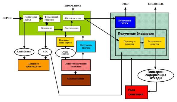 Схема получения биотоплива.