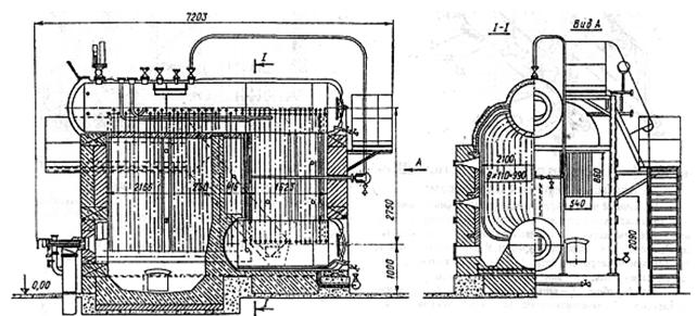 котел конструкции ДКВР-6,5